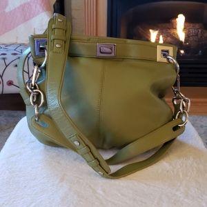 Calvin Klein green handbag purse